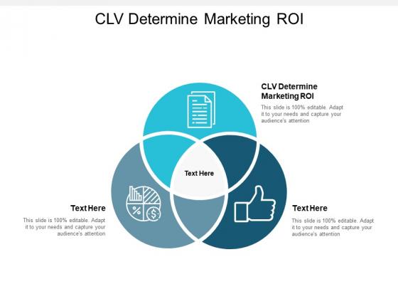 CLV Determine Marketing ROI Ppt PowerPoint Presentation Portfolio Smartart Cpb