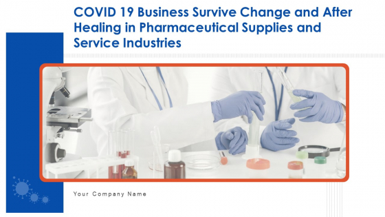 COVID 19 Business Survive Change And After Healing In Pharmaceutical Supplies And Service Industries Complete Deck