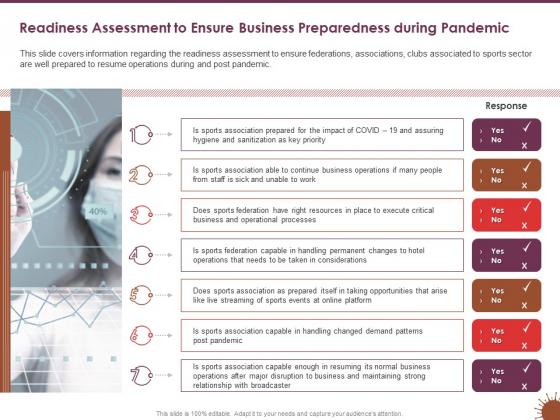 COVID_19_Effect_Risk_Management_Strategies_Sports_Readiness_Assessment_Ensure_Business_Preparedness_During_Pandemic_Topics_PDF_Slide_1