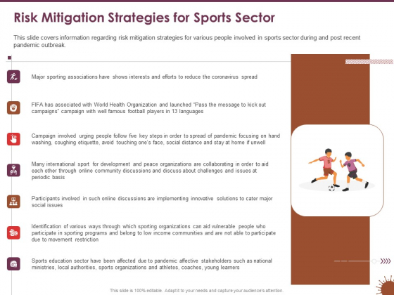 COVID 19 Effect Risk Management Strategies Sports Risk Mitigation Strategies For Sports Sector Microsoft PDF