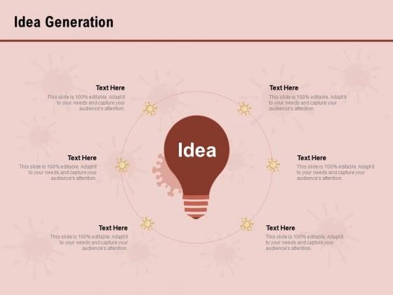 COVID 19 Pandemic Disease Idea Generation Graphics PDF