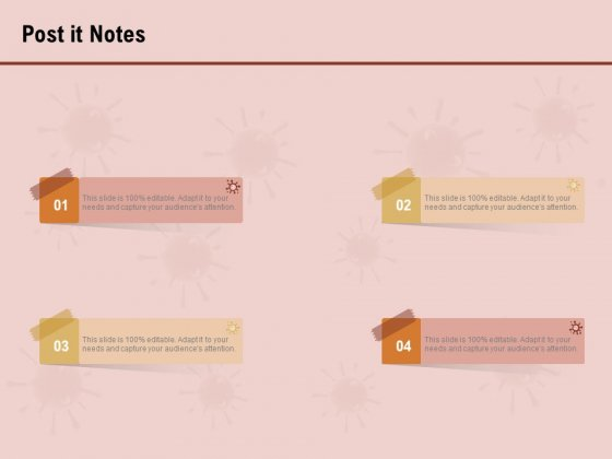 COVID 19 Pandemic Disease Post It Notes Background PDF