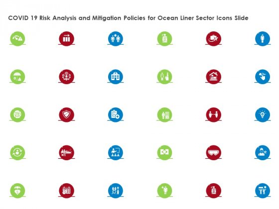 COVID 19 Risk Analysis And Mitigation Policies For Ocean Liner Sector Icons Slide Themes PDF