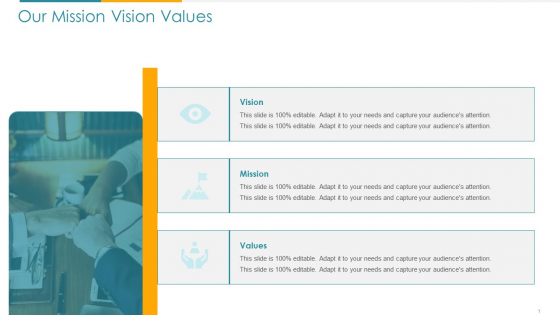 COVID Business Survive Adapt And Post Recovery For Tech Industry Our Mission Vision Values Ppt Summary Gallery PDF
