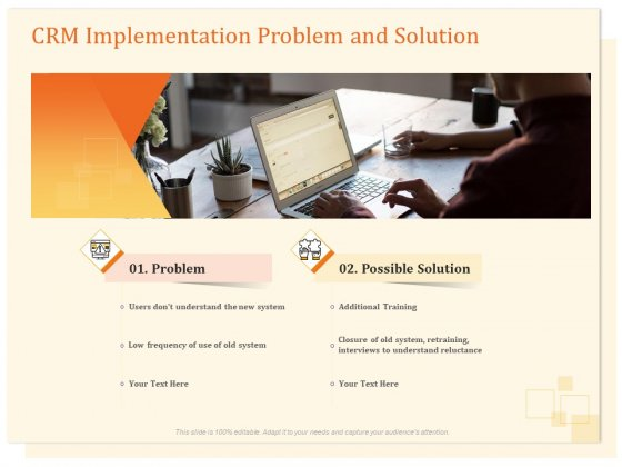 CRM Consulting CRM Implementation Problem And Solution Ppt Ideas Professional PDF