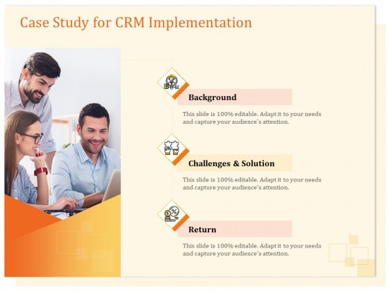 CRM Consulting Case Study For CRM Implementation Ppt Infographics Background Images PDF