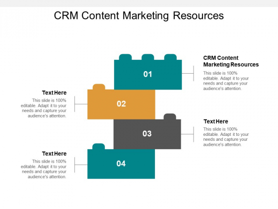 CRM Content Marketing Resources Ppt PowerPoint Presentation File Slides Cpb
