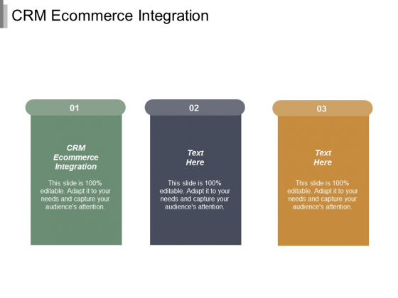 CRM Ecommerce Integration Ppt PowerPoint Presentation Gallery Show Cpb