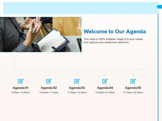 CRM_For_Realty_Properties_Welcome_To_Our_Agenda_Ppt_Show_Mockup_PDF_Slide_1