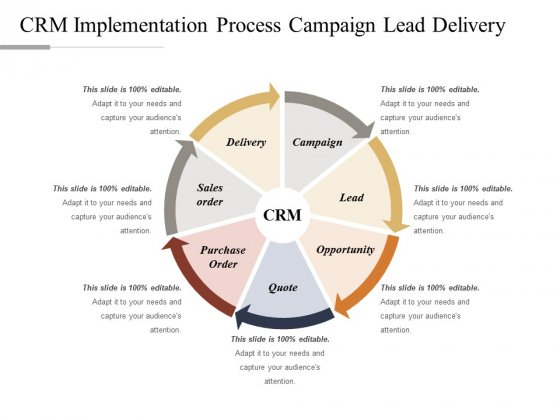 CRM Implementation Process Campaign Lead Delivery Ppt PowerPoint Presentation Slides Example Topics