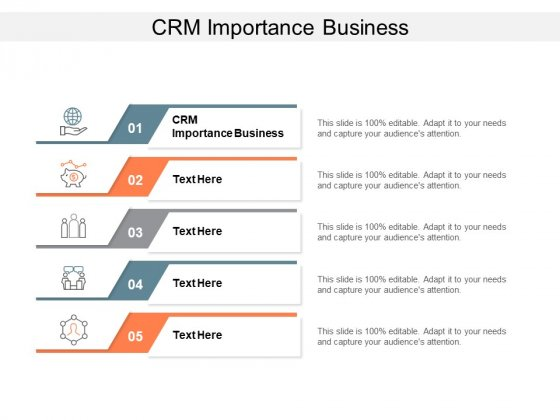 CRM Importance Business Ppt PowerPoint Presentation Ideas Vector Cpb