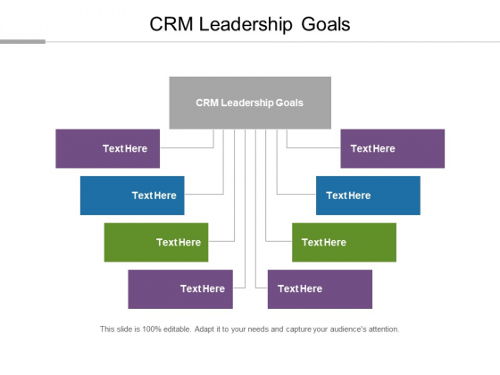 CRM Leadership Goals Ppt PowerPoint Presentation Icon Rules Cpb