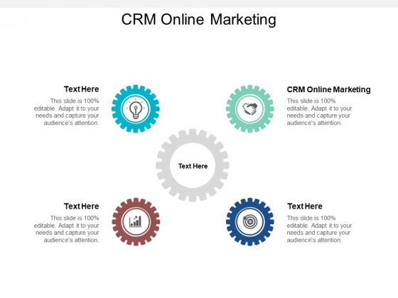 CRM Online Marketing Ppt PowerPoint Presentation Ideas Show Cpb