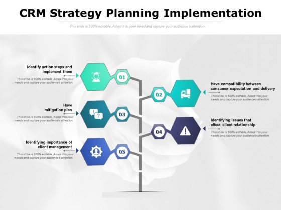 CRM Strategy Planning Implementation Ppt PowerPoint Presentation Styles Demonstration
