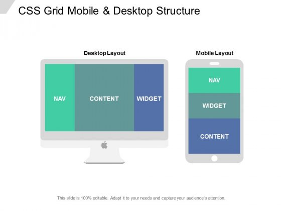 CSS Grid Mobile And Desktop Structure Ppt PowerPoint Presentation Pictures Gallery