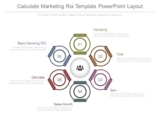 Calculate Marketing Roi Template Powerpoint Layout
