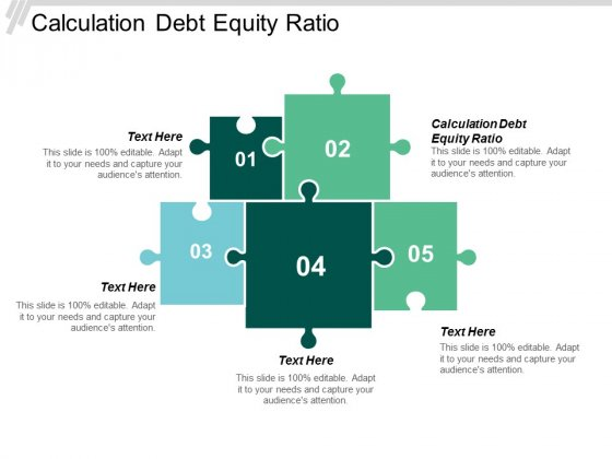 Calculation Debt Equity Ratio Ppt Powerpoint Presentation File Format Ideas Cpb