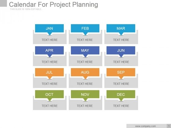 Calendar For Project Planning Ppt PowerPoint Presentation Gallery