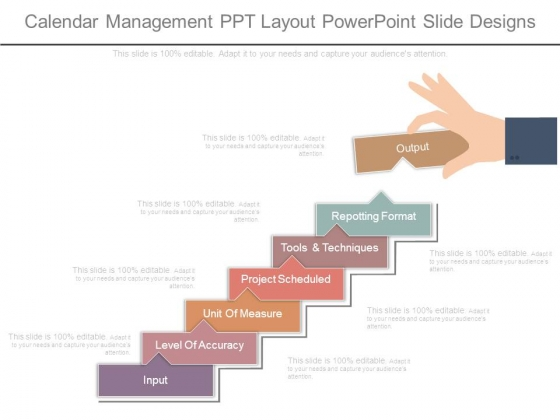 Calendar Management Ppt Layout Powerpoint Slide Designs