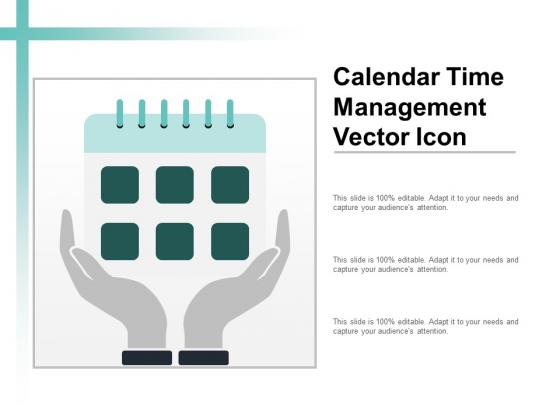 Calendar Time Management Vector Icon Ppt PowerPoint Presentation Deck