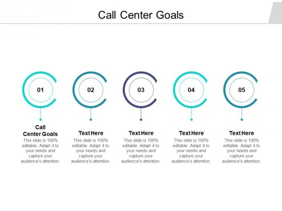Call Center Goals Ppt PowerPoint Presentation Outline Files Cpb Pdf