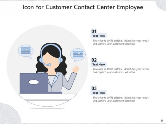 Call_Center_Icon_Headphone_Icon_Employee_Ppt_PowerPoint_Presentation_Complete_Deck_Slide_9