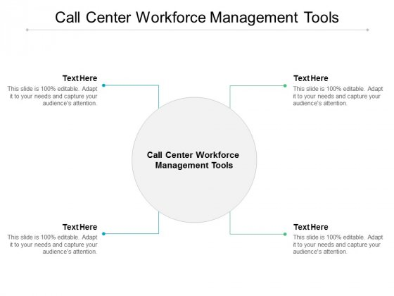 Call Center Workforce Management Tools Ppt PowerPoint Presentation Styles Slides Cpb
