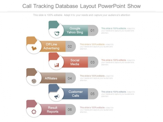 Call Tracking Database Layout Powerpoint Show