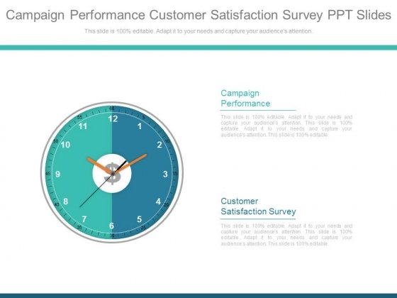 Campaign Performance Customer Satisfaction Survey Ppt Slides