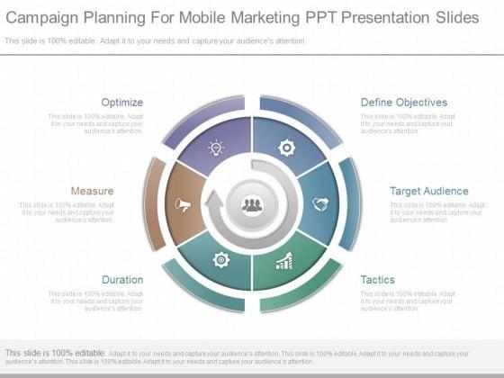 Campaign Planning For Mobile Marketing Ppt Presentation Slides