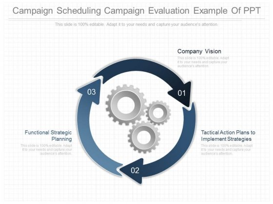 Campaign Scheduling Campaign Evaluation Example Of Ppt
