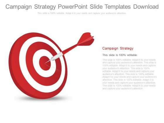 Campaign Strategy Powerpoint Slide Templates Download
