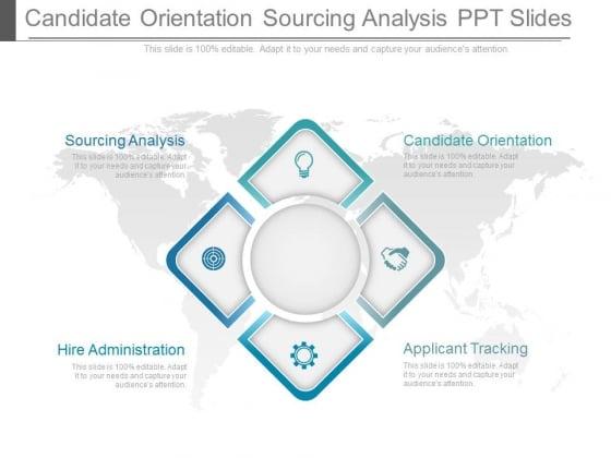 Candidate Orientation Sourcing Analysis Ppt Slides