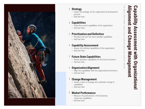 Capability Assessment With Organizational Alignment And Change Management Ppt Ideas Inspiration PDF