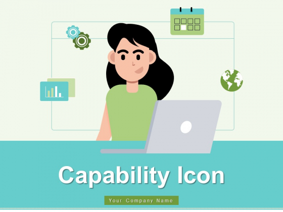 Capability Icon Employees Performance Gears Ppt PowerPoint Presentation Complete Deck