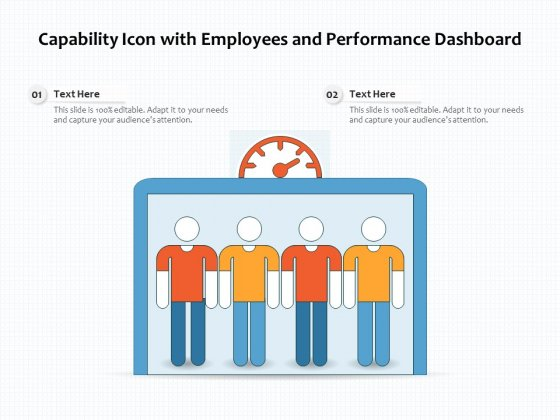 Capability Icon With Employees And Performance Dashboard Ppt PowerPoint Presentation Icon Model PDF