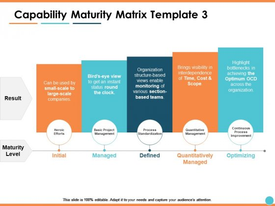 Capability Maturity Matrix Managed Ppt PowerPoint Presentation Outline Files