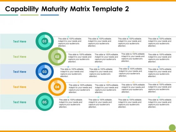 Capability Maturity Matrix Ppt PowerPoint Presentation Ideas Topics