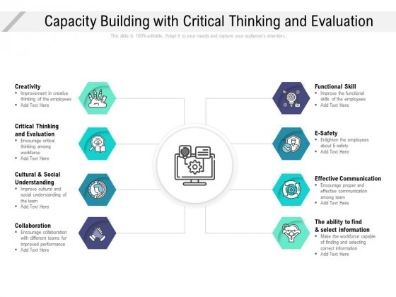 Capacity Building With Critical Thinking And Evaluation Ppt Infographics Sample PDF