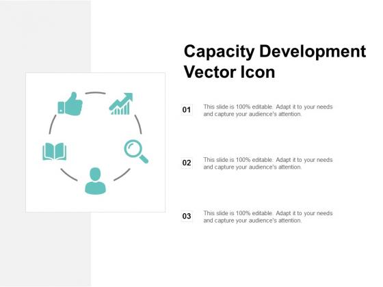 Capacity Development Vector Icon Ppt PowerPoint Presentation Summary Slide Download