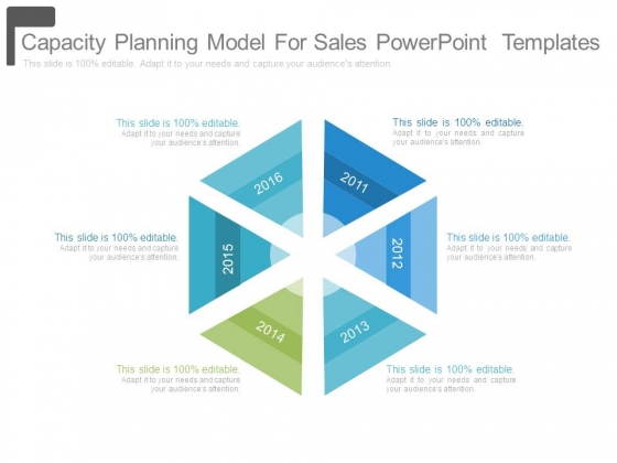 Capacity Planning Model For Sales Powerpoint Templates