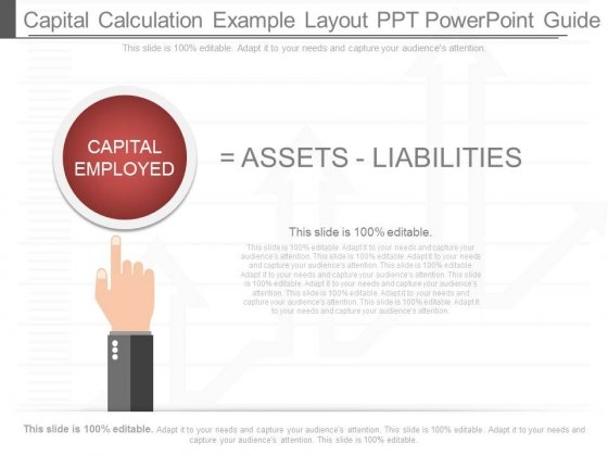 Capital Calculation Example Layout Ppt Powerpoint Guide