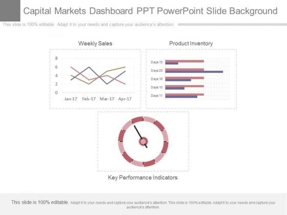 Capital Markets Dashboard Ppt Powerpoint Slide Background