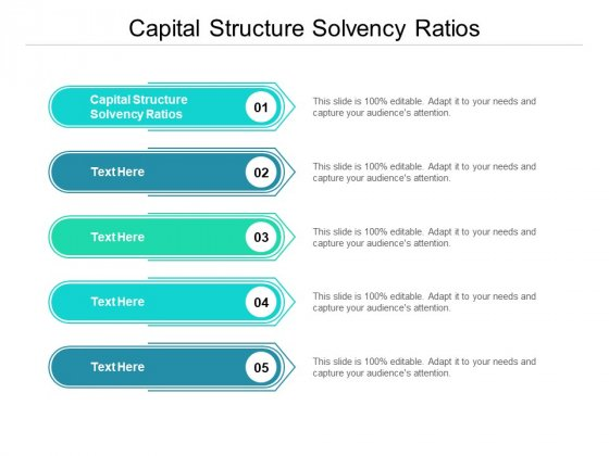 Capital Structure Solvency Ratios Ppt PowerPoint Presentation Ideas Guidelines Cpb