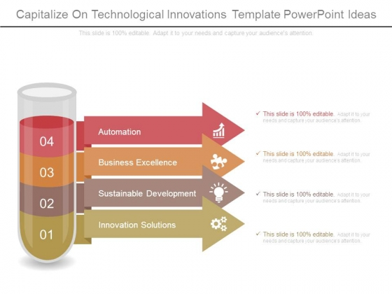Capitalize On Technological Innovations Template Powerpoint Ideas