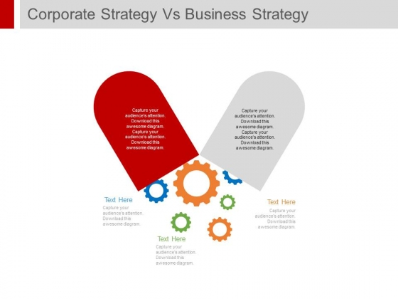 Capsule Design For Corporate Strategy Vs Business Strategy Powerpoint Template