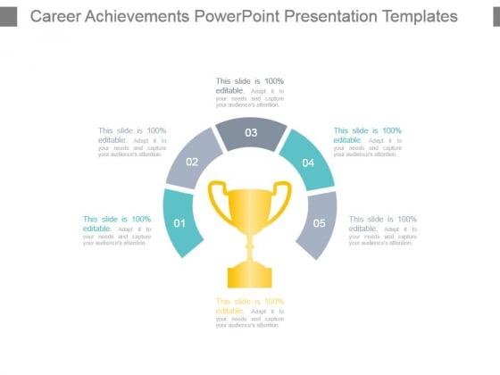 Career Achievements Powerpoint Presentation Templates