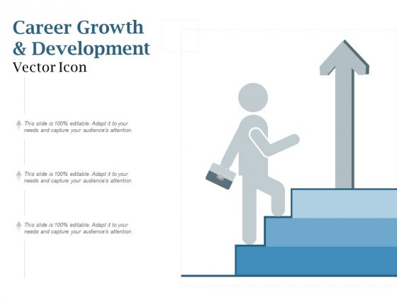 Career Growth And Development Vector Icon Ppt PowerPoint Presentation File Smartart