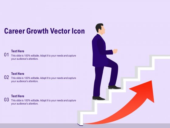 Career Growth Vector Icon Ppt PowerPoint Presentation Ideas Display