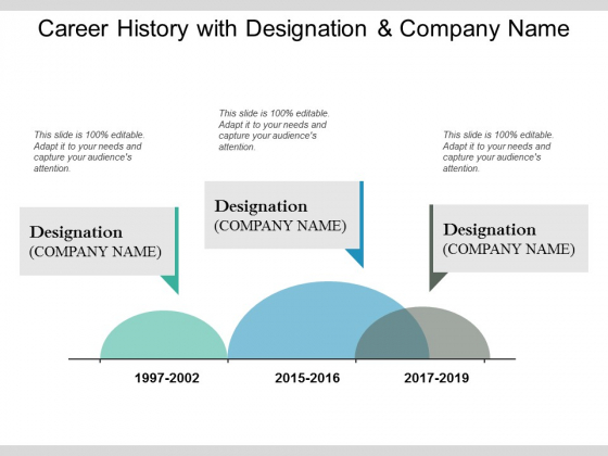 Career History With Designation And Company Name Ppt